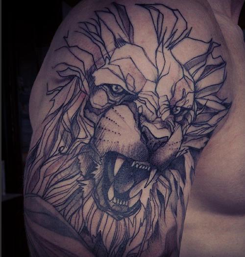 Souvent Tatuaggio Leone: significato, simbologia e galleria di immagini  FH84
