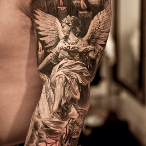 Tatuaggi con angeli passionetattoo for Tattoo donne guerriere