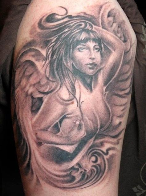 Pin re angeli e demoni tattoo on pinterest for Tatuaggi donne pin up