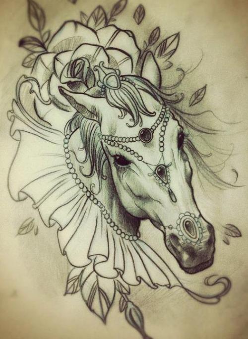 Line Drawing Horse Tattoo : Tatuaggio cavallo significato simbolo e gallery