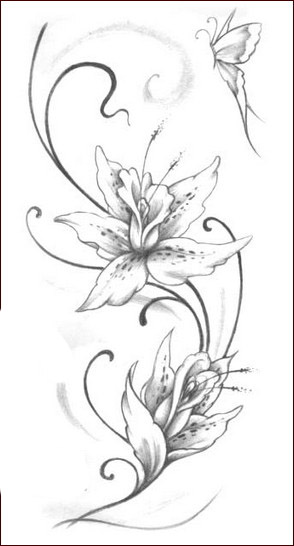 Tatuaggi,fiori,2