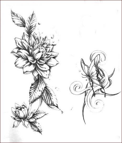 Tatuaggi,fiori,8