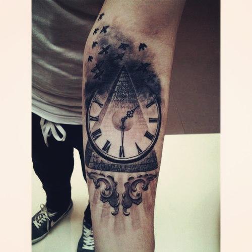 tatuaggio orologio