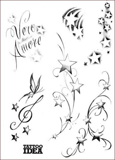 Tatuaggi di stelle storia informazioni e gallery for Disegno una finestra tra le stelle karaoke