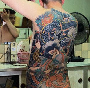 Tatuaggio giapponese retro schiena