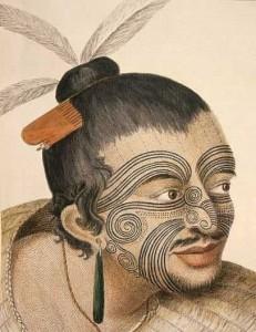 Rappresentazione tatuaggio tribale in faccia