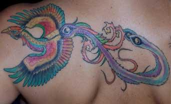 Tatuaggio fenice giapponese