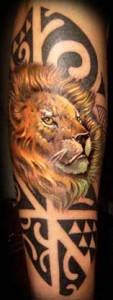 Tatuaggio leone giapponese