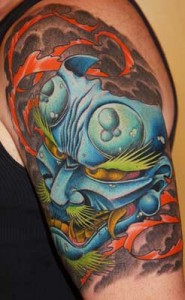 Tatuaggio Oni giapponese