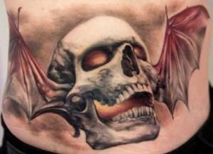 Tatuaggio teschio giapponese