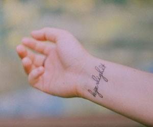 tatuaggio al polso