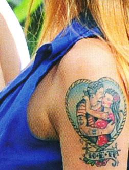 Tatuaggio sul braccio Belen