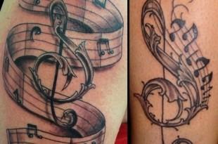 tatuaggio nota musicale