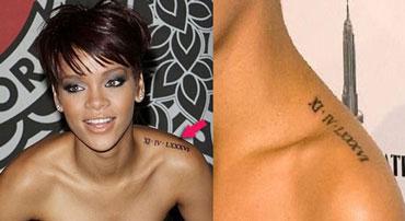 Tatuaggio data di nascita Rihanna