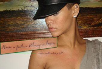 never failure always lesson Rihanna tattoo