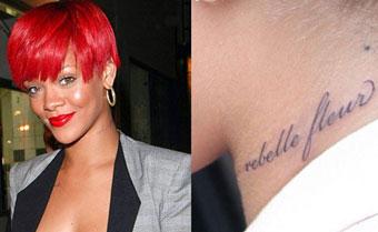 Rebelle Fleur - tattoo Rihanna