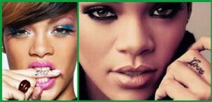 tatuaggi sulle dita Rihanna