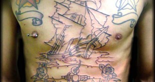 tatuaggio veliero