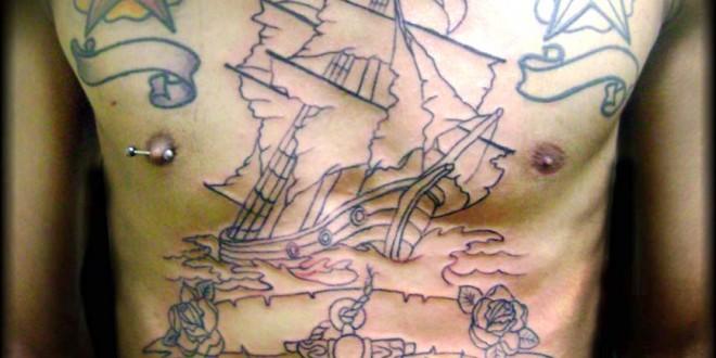 Tatuaggio veliero foto e significato di uno dei migliori tattoo old school  , PassioneTattoo