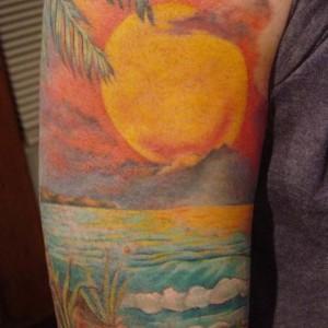 tatuaggio giapponese alba sol levante