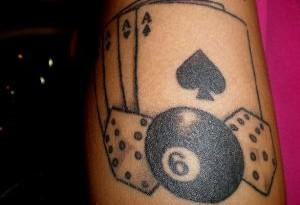tatuaggio asso di picche
