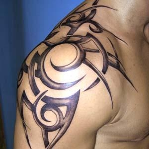 tribal-shoulder-tattoo