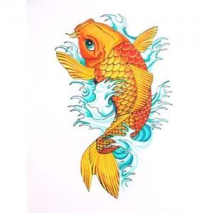 Tatuaggio carpa koi significato ed immagini passionetattoo for Carpe koi orange