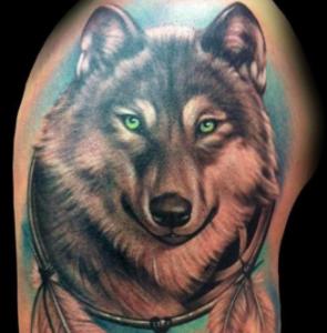 lupo tatuaggio