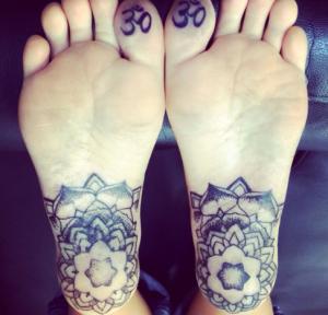 tatuaggio suola piede
