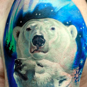Orso polare tattoo