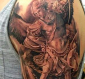 san michele arcangelo tatuaggio