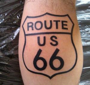 route 66 tatuaggio
