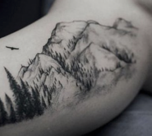 tatuaggio montagna