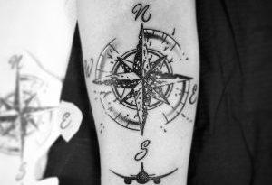 la rosa dei venti tattoo