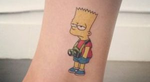 tattoo bart simpson
