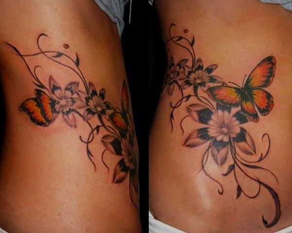 Tatuaggi fiori e farfalle il significato e le foto pi for Disegni fiori per tatuaggi