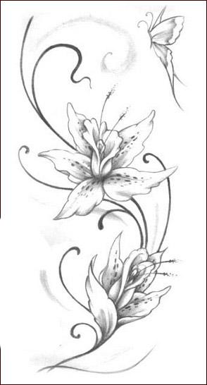 Tatuaggi con fiori tanti disegni floreali per il tuo corpo for Fiori stilizzati immagini