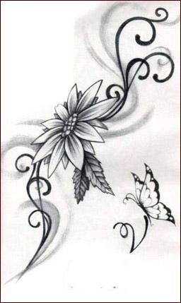Tatuaggi,fiori,20
