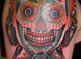 tattoo teschio messicano