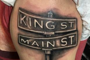 tatuaggio segnale stradale